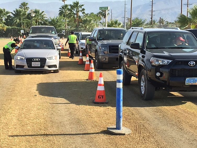 Image of a checkpoint at the Stagecoach music festival